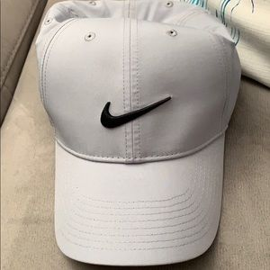 NWT Nike grey hat with velcro strap in back